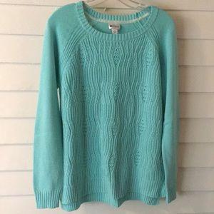 Turquoise long sleeve sweater large